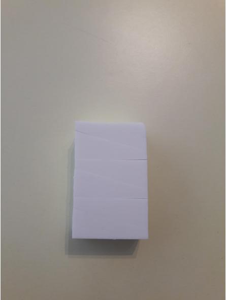 Spugnette bianche triangolari ( senza lattice)